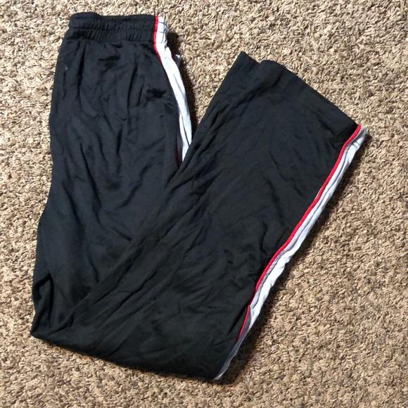 Nike Air Jordan Sweatpants Tricot Snap Basketball Sweats Jumpman Black Red Men L